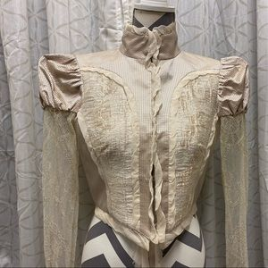 Bebe Cream Puff sleeve Victorian Inspired jacket